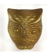 "Vtg Brass Wise Decor Owl Hollow MCM Mid Century Figurine Art 2 1/2"" - $9.95"