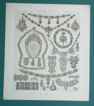 JEWELRY Goldsmith's Work Europe 17th Century  - 1880s RACINET Litho Print - $13.50