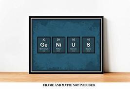 GENIUS Periodic Table of Elements Classroom Decor Prints - 8 x 10 Unfram... - $12.84
