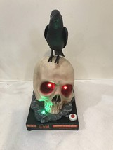 Halloween Animated Talking Raven on Skull  - $29.99