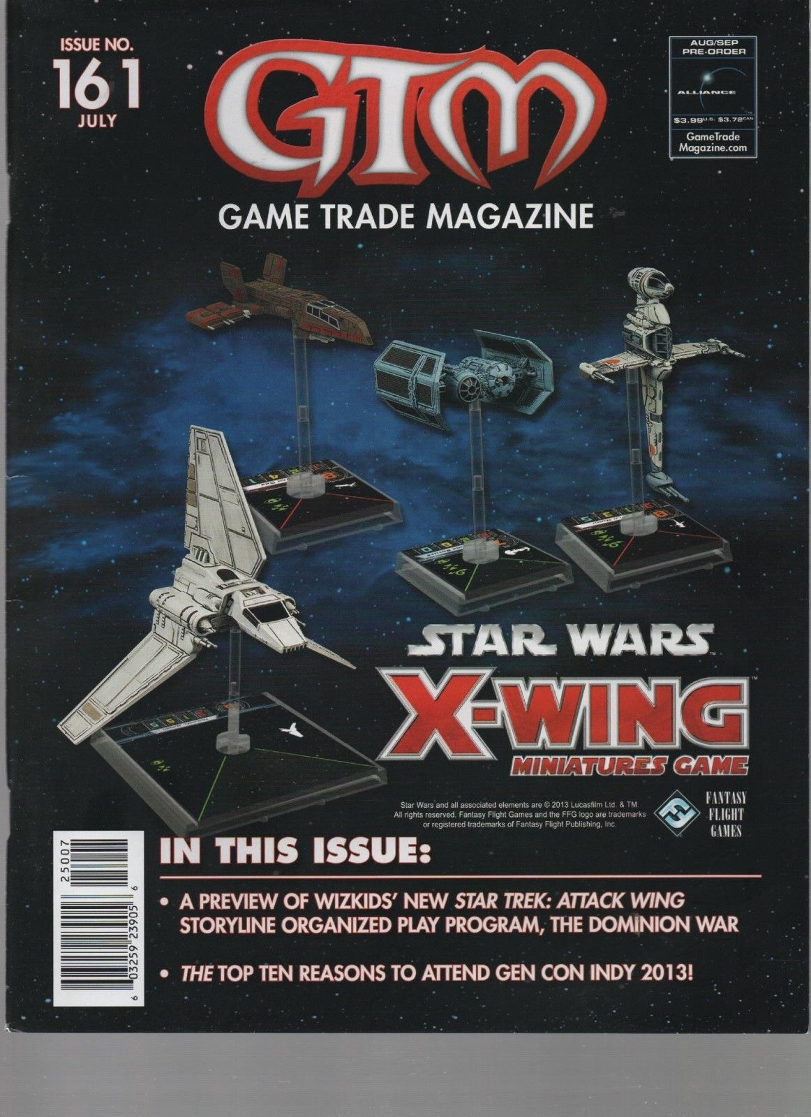Game Trade Magazine #161 - July 2013 - Star Wars X-Wing, Star Trek: Attack Wing.