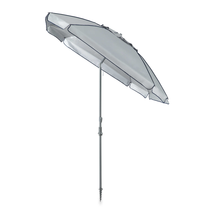 Large Adjustable Beach Umbrella 8foot Square Lightweight Portable UV Pro... - $64.99