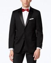 New Mens Tommy Hilfiger Black Wool Tuxedo Jacket 40 Short $425 - $118.79
