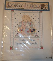 Bucilla Stamped Cross Stitch Sampler~Sisters are Special Friends~NOS~Ships FREE - $4.74