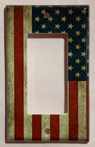 US USA United State Flag Light Switch Power Outlet Wall Cover Plate Home decor image 3