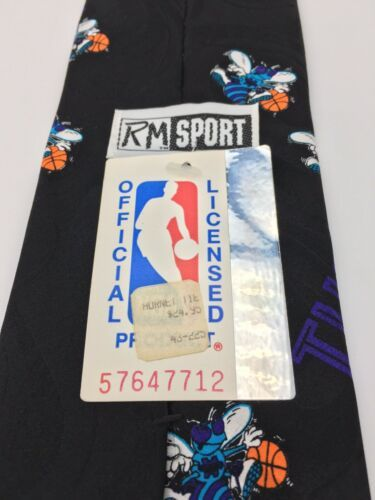 Vintage Ralph Marlin Mens Neck Tie Charlotte Hornets Basketball Unworn w tag  image 7