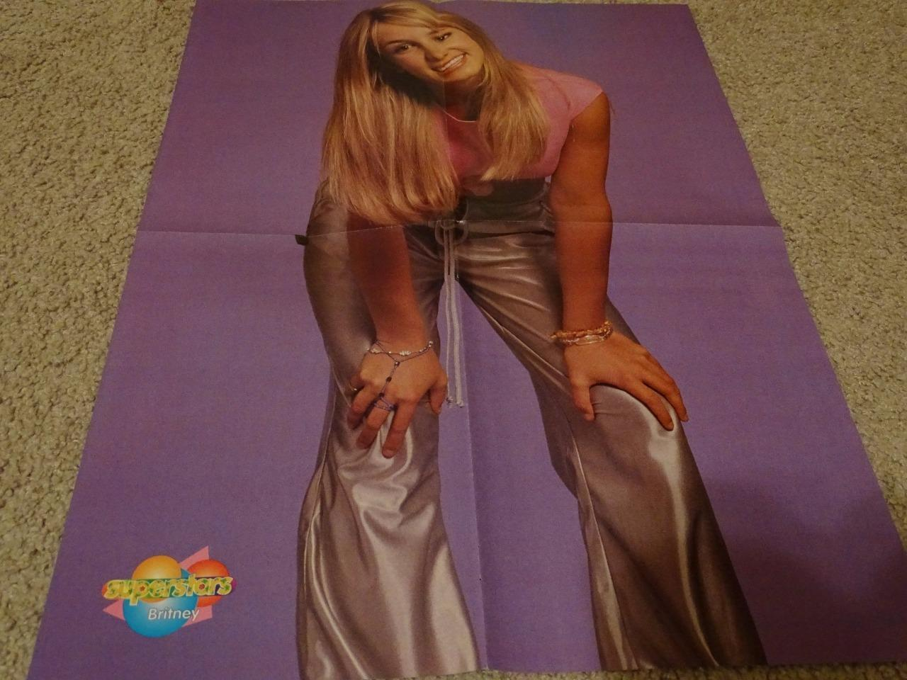Britney Spears 98 Degrees teen magazine poster clipping Tiger Beat Teen Beat