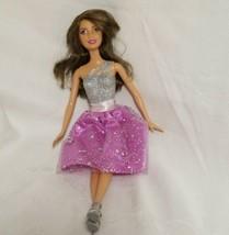 Barbie Teresa Princess Glitter Silver Purple Dress 2009 Mattel Doll Brow... - $12.86