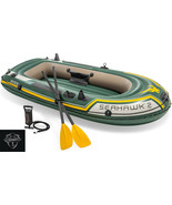 Intex Seahawk 2, 2-Person Inflatable Boat Set w/ French Oars & Air Pump ... - $79.99