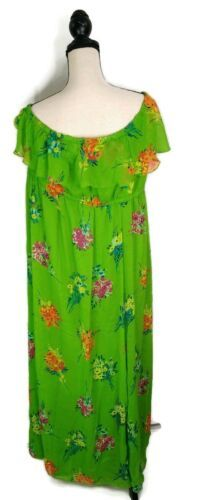 Old Navy Strapless Floral Dress- Cotton Stretch Green Size XXL