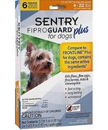 Sentry 6 Count Fiproguard Plus For Dogs Squeeze-on (4-22 pound) - $788,35 MXN
