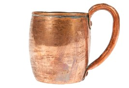 FREE SHIP: Vintage Copper Mug with Handle - $18.70