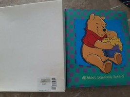 Disney Winnie The Pooh Baby Book Hallmark Refillable All About Somebody ... - $26.68