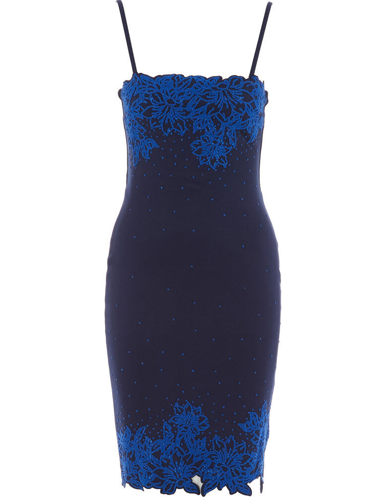 INSTERGLAM Embellished Midnight Blue Dress BNWT