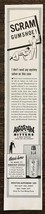 1942 Angostura Bitters Print Ad Scram Gumshoe! - $9.95
