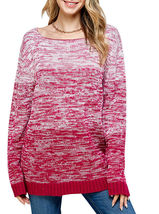 Women's Oversized Long Sleeve Colorful Chunky Knitted Casual Pullover Sweater image 6