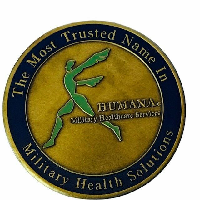 Challenge coin vtg service award military Humana tricare army marines air force - $19.25