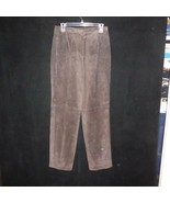 Liz Claiborne Collection Suede Brown LINED Pants Size 10 (28 x 32) - $14.81