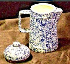 Vintage Stoneware Miniature Coffee Pot AA19-1410 image 4