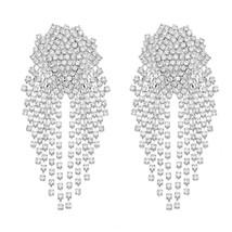 Luxury Crystal Water Drop Earrings for Women Big Earings Fashion Jewelry... - $10.10