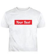Custom Red box logo Short Sleeve T-Shirts T-Shirt Tee C-T12 - $15.35+
