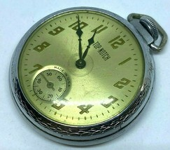 Vintage Top Notch USA Small Seconds Men Hand-Wind Mechanical Pocket Watc... - $32.29
