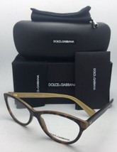 New DOLCE & GABBANA Rx-able Eyeglasses DG 3232 2956 55-15 140 Tortoise Havana