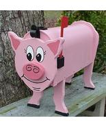 Pink Pig Mailbox Custom Swine Hog Mailboxes Postal Mail Box Animal Pigs - $95.00