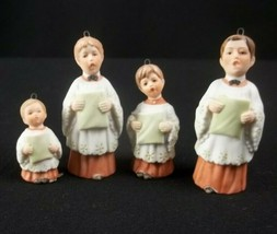 Vintage Porcelain Choirboys Enesco 1982 Ornaments Lot of 4 - $27.67