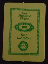 1972 Milton Bradley Seance Game - 100 SHARES INCA GOLD MINE Card ONLY - $15.00
