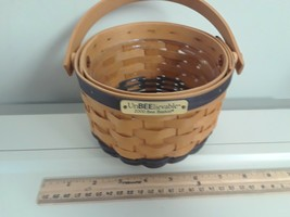 Longaberger 2000 Bee Basket  with Plastic Protector New - $39.55