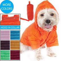 Adjustable Lightweight Folding 'Avalanche' Pet Dog Coat Jacket w/ Built-... - $25.99