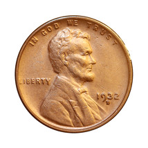1932 D Lincoln Wheat Cent - Choice BU / MS / UNC  - $31.00