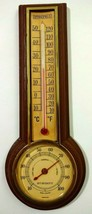 Springfield Instrument Co Thermometer Humidity Brown Plastic Made in USA image 1