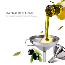 Stainless Steel Funnel Filling Hip Cooking 3.94inch Oil Liquor Juice Fun... - $8.79+