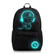 fashion cool luminous quality oxford cloth USB charging port backpack - $26.00