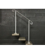 3 Foot Handrail Railing for Stairs | Base Plate Surface Mount | Metal Ha... - $140.00