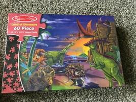 Melissa & Doug Land Of Dinosaurs 60 Piece Jigsaw Puzzle #1372 - $13.80