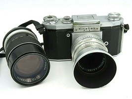 Rare Vintage Kineflex F-X 35mm Camera with Perrin Leather Case Carl Zeis... - $399.95