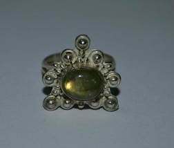 Vintage 925 Sterling Silver Natural Labradorite Ring - $65.02