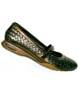 Cole Haan Women's Bronze Leather Woven Casual Mary Jane Hook Loop Flats ... - $26.27