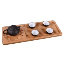 Table Small Bamboo Tea Table Wood For Teapot Storage Tea Table Decoratio... - $606,33 MXN+