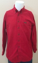 John Rich & Bros. Woolrich Men's Brushed Cotton Red Button Front L/S Shi... - $24.99