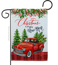 Christmas Happy New Year - Impressions Decorative Garden Flag G164230-BO - $19.97