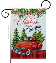 Christmas Happy New Year - Impressions Decorative Garden Flag G164230-BO - $19.97