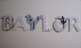 Wood Letters-Nursery Decor-  Navy Blue Nautical, Price Per Letter- Custo... - $12.50
