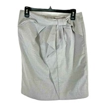 Banana Republic Factory Women's Pencil Skirt Size 6 Gray Bow - $17.99