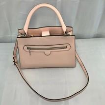 A New Day Pink Handbag Convertible Hand or Crossbody Pockets Zippers Cla... - $34.00