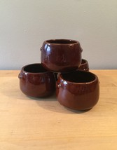 Vintage 60s West Bend stoneware Bean Bowls - set of 4 image 1