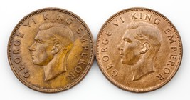 Lot of 2 New Zealand Pennies (1940 and 1943) XF - Unc Condition KM #13 - $79.20